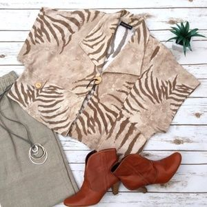 Jean Marc Philippe Zebra Lagenlook Top / Jacket